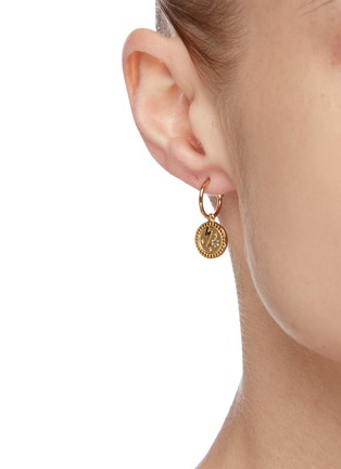 Figure View - Click To Enlarge - MEADOWLARK - 'Amulet Strength' sapphire gold-plated earrings