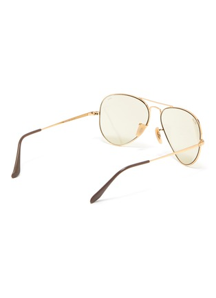 Figure View - Click To Enlarge - RAY-BAN - Metal frame aviator sunglasses
