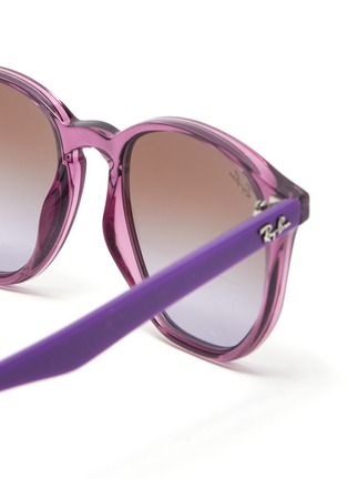 Detail View - Click To Enlarge - RAY-BAN - Angular acetate frame gradient kids sunglasses