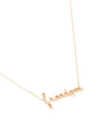 Detail View - Click To Enlarge - PERSÉE PARIS - 'Freedom' Diamond Pendant 9k Yellow Gold Chain Necklace