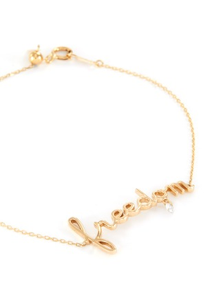 Detail View - Click To Enlarge - PERSÉE PARIS - 'Freedom' Diamond 9k Yellow Gold Bracelet
