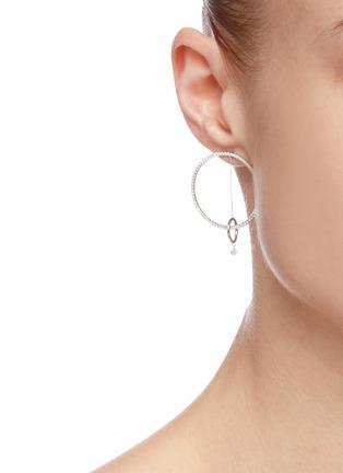 Figure View - Click To Enlarge - PERSÉE PARIS - 'Oribite' Diamond 9k White Gold Earrings