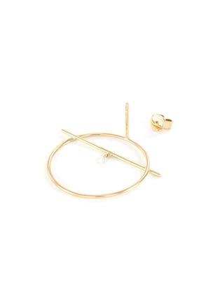Detail View - Click To Enlarge - PERSÉE PARIS - 'Fibule' diamond yellow gold earring