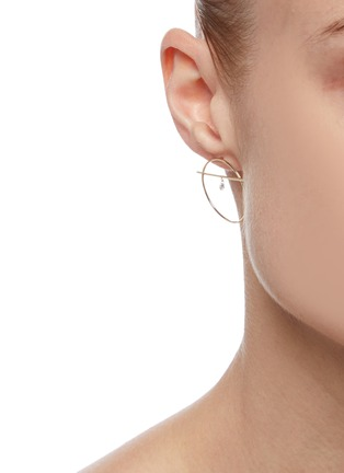 Figure View - Click To Enlarge - PERSÉE PARIS - 'Fibule' diamond yellow gold earring