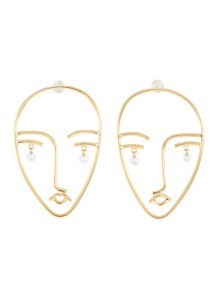 Main View - Click To Enlarge - PERSÉE PARIS - 'Matisse' diamond yellow gold earring