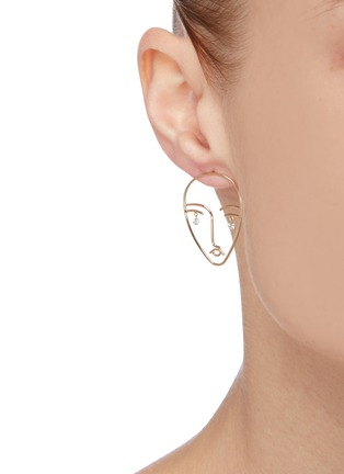 Figure View - Click To Enlarge - PERSÉE PARIS - 'Matisse' diamond yellow gold earring