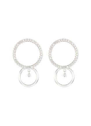 Main View - Click To Enlarge - PERSÉE PARIS - 'Bonnie' Diamond 9k White Gold Earrings