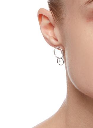 Figure View - Click To Enlarge - PERSÉE PARIS - 'Bonnie' Diamond 9k White Gold Earrings