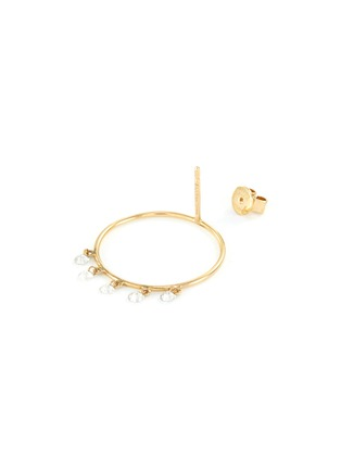 Detail View - Click To Enlarge - PERSÉE PARIS - 'Boheme' Diamond 9k Yellow Gold Earrings