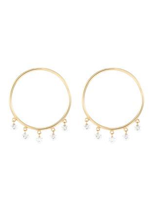 Main View - Click To Enlarge - PERSÉE PARIS - 'Boheme' Diamond 9k Yellow Gold Earrings