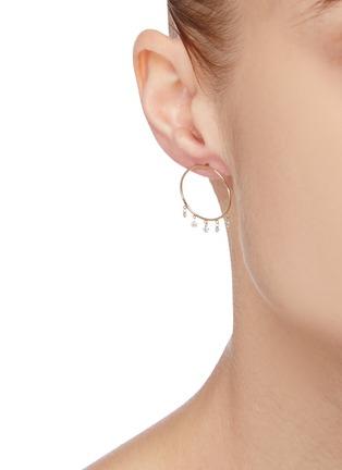 Figure View - Click To Enlarge - PERSÉE PARIS - 'Boheme' Diamond 9k Yellow Gold Earrings
