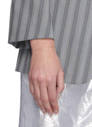 Figure View - Click To Enlarge - PERSÉE PARIS - 'Danae' Diamond 9k White Gold Bracelet
