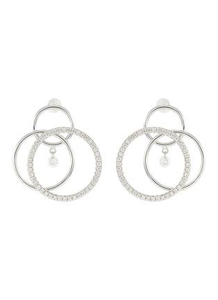 Main View - Click To Enlarge - PERSÉE PARIS - 'Toubillon' Diamond 9k White Gold Earrings