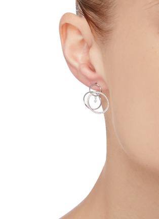 Figure View - Click To Enlarge - PERSÉE PARIS - 'Toubillon' Diamond 9k White Gold Earrings