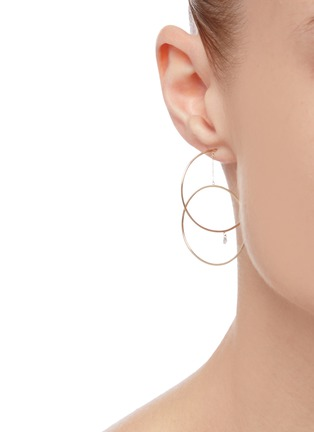 Figure View - Click To Enlarge - PERSÉE PARIS - 'Oribite' diamond yellow gold earring