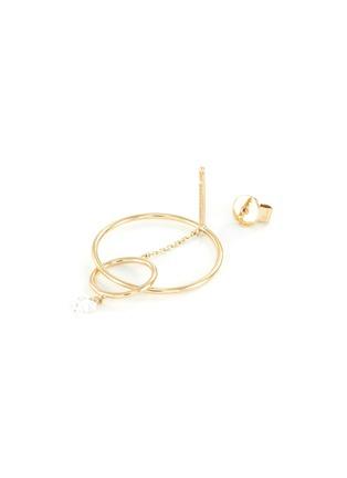 Detail View - Click To Enlarge - PERSÉE PARIS - 'Oribite' diamond yellow gold mini earring