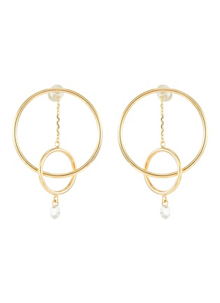 Main View - Click To Enlarge - PERSÉE PARIS - 'Oribite' diamond yellow gold mini earring