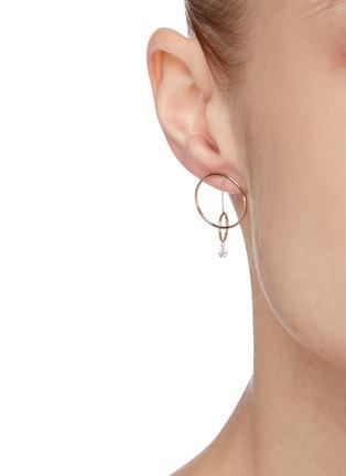 Figure View - Click To Enlarge - PERSÉE PARIS - 'Oribite' diamond yellow gold mini earring