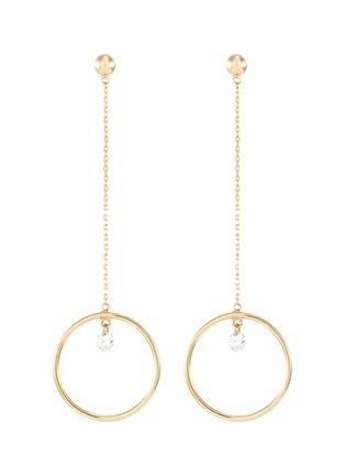 Main View - Click To Enlarge - PERSÉE PARIS - 'Pendule' diamond yellow gold earring