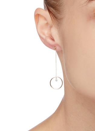 Figure View - Click To Enlarge - PERSÉE PARIS - 'Pendule' diamond yellow gold earring