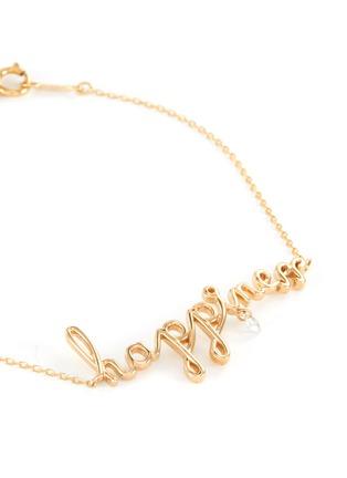 Detail View - Click To Enlarge - PERSÉE PARIS - 'Happiness' Diamond 9k Yellow Gold Bracelet