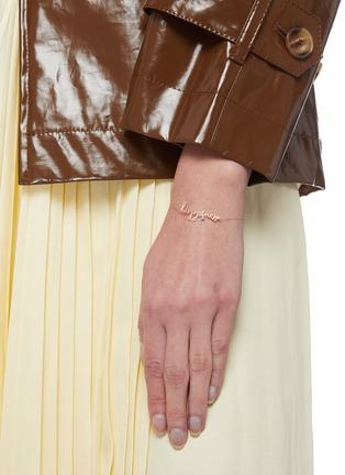 Figure View - Click To Enlarge - PERSÉE PARIS - 'Happiness' Diamond 9k Yellow Gold Bracelet