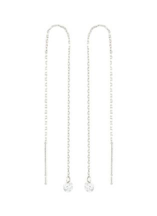 Main View - Click To Enlarge - PERSÉE PARIS - 'Danae' Diamond 9k White Gold Earrings