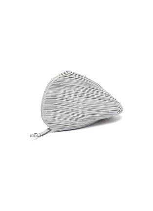 Figure View - Click To Enlarge - NEOUS - 'Pluto' pleated swirl leather clutch