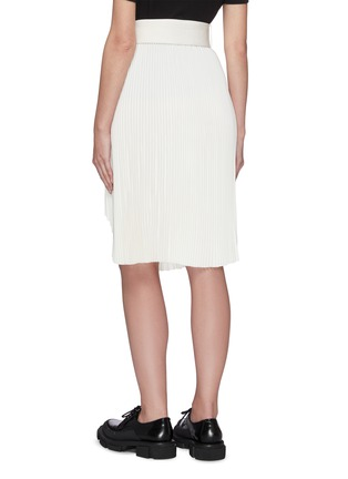 Back View - Click To Enlarge - SHUSHU/TONG - Pleated Split Hem Skirt