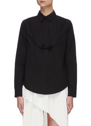Main View - Click To Enlarge - SHUSHU/TONG - Braided Curve Shirt