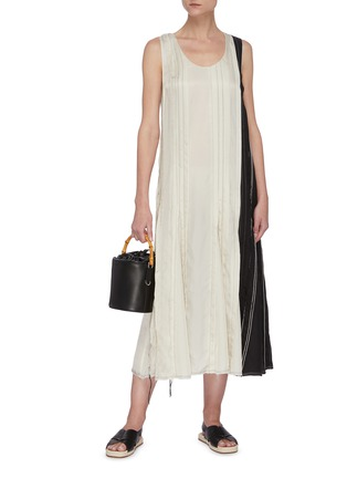 Figure View - Click To Enlarge - JOSEPH - Pleated cupro dress