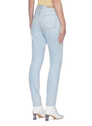 Back View - Click To Enlarge - GRLFRND - 'Karolina' star embroidered pocket light wash skinny jeans
