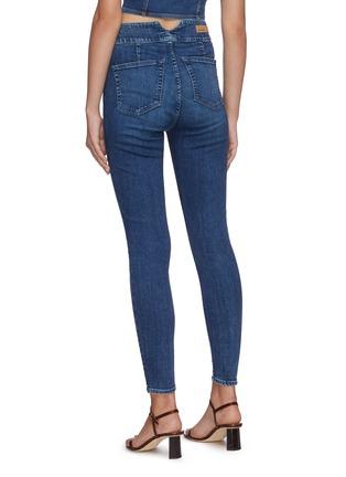 Back View - Click To Enlarge - GRLFRND - 'Tatiana' dark wash skinny jeans