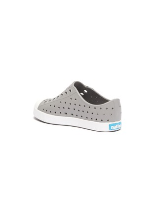 Detail View - Click To Enlarge - NATIVE - Jefferson' perforated kids slip-on sneakers
