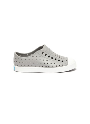 Main View - Click To Enlarge - NATIVE - Jefferson' perforated kids slip-on sneakers