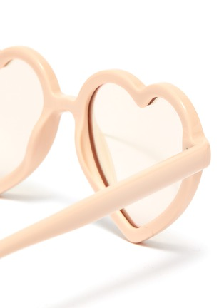 Detail View - Click To Enlarge - SONS + DAUGHTERS - 'Lola' heart frame mirror effect kids sunglasses