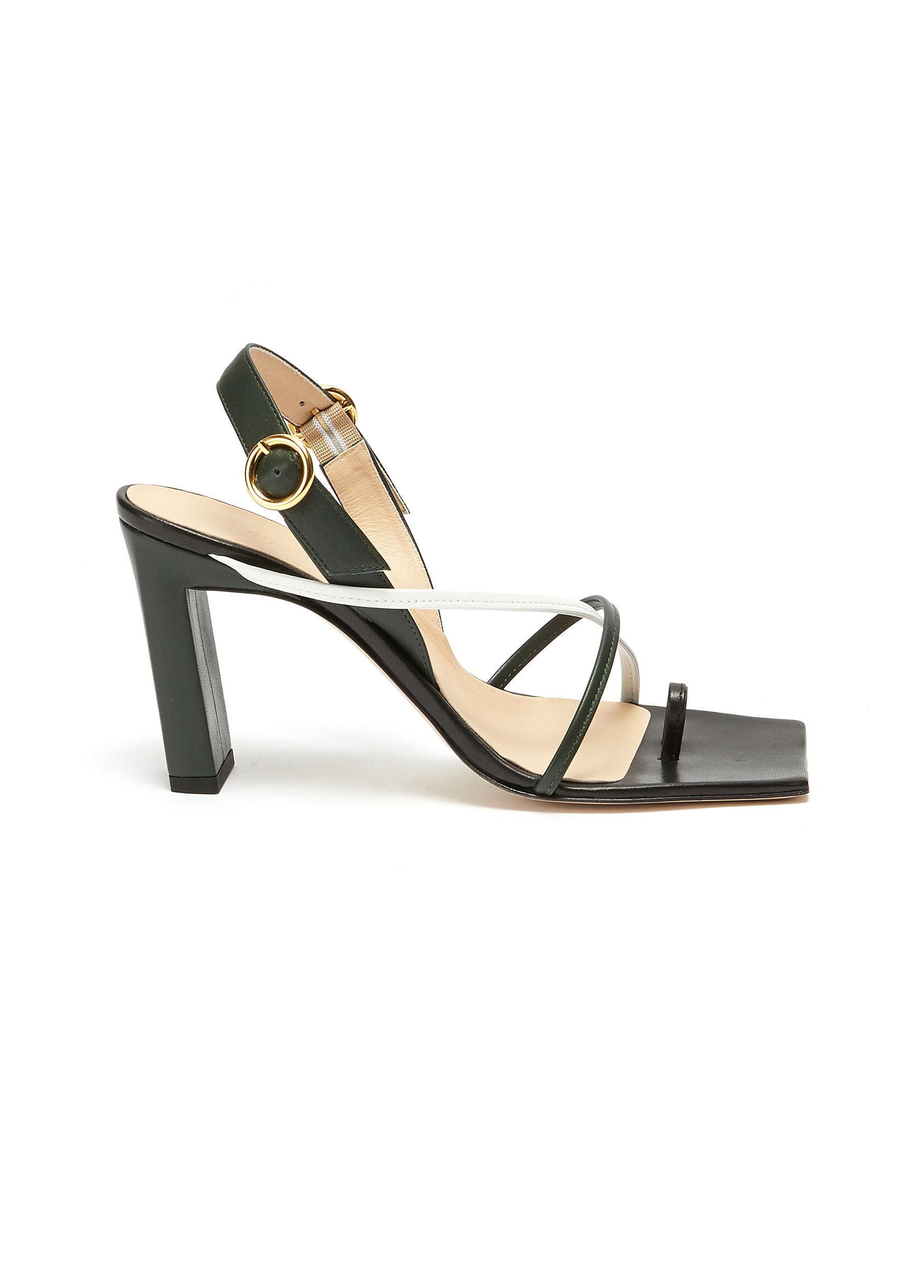 Wandler High Heels Elza Square toe strappy slingback sandals