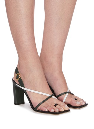 Figure View - Click To Enlarge - WANDLER - 'Elza' Square toe strappy slingback sandals