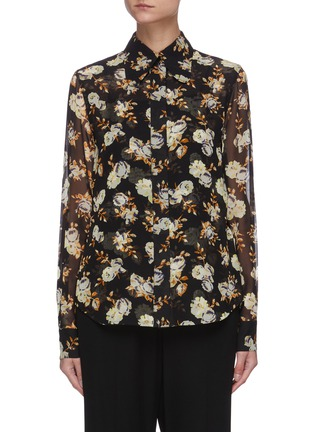 Main View - Click To Enlarge - VICTORIA BECKHAM - Floral print silk blouse
