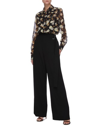 Figure View - Click To Enlarge - VICTORIA BECKHAM - Floral print silk blouse