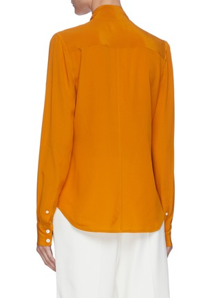 Back View - Click To Enlarge - VICTORIA BECKHAM - Pussy-bow silk blouse