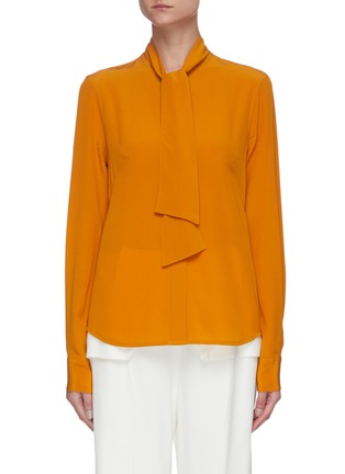 Main View - Click To Enlarge - VICTORIA BECKHAM - Pussy-bow silk blouse