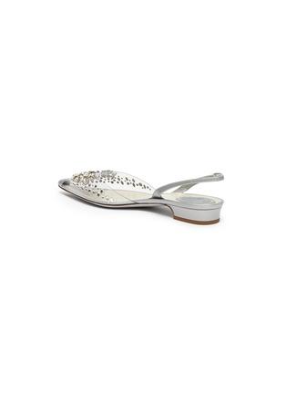 - RENÉ CAOVILLA - Crystal embellished point toe slingback flats
