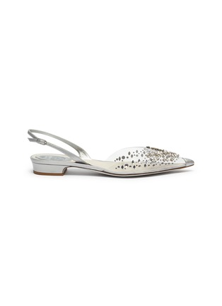 Main View - Click To Enlarge - RENÉ CAOVILLA - Crystal embellished point toe slingback flats