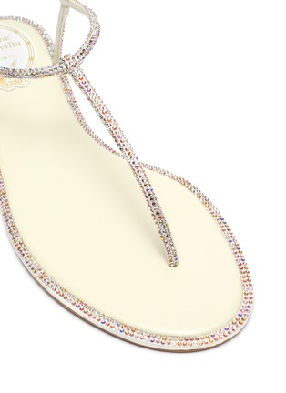 Detail View - Click To Enlarge - RENÉ CAOVILLA - Diana' strass crystal flat thong sandals