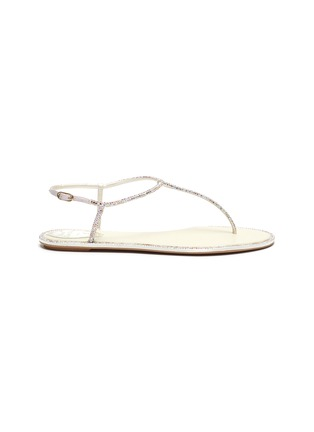 Main View - Click To Enlarge - RENÉ CAOVILLA - 'Diana' strass crystal flat thong sandals