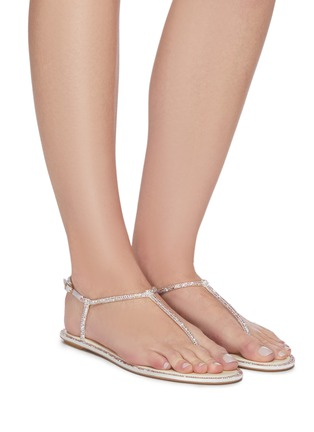 Figure View - Click To Enlarge - RENÉ CAOVILLA - 'Diana' strass crystal flat thong sandals