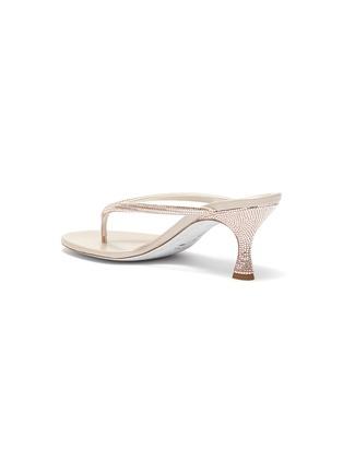 - RENÉ CAOVILLA - Strass embellished strap thong sandal