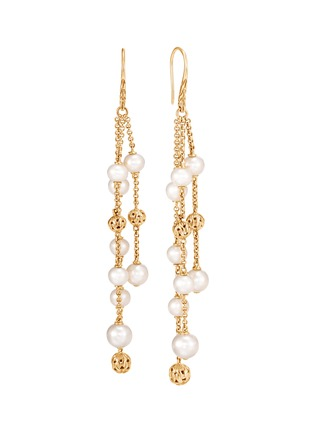 Main View - Click To Enlarge - JOHN HARDY - 'Classic Chain' freshwater pearl 18k yellow gold chandelier earrings