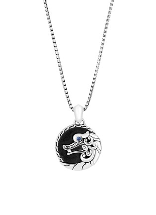 Main View - Click To Enlarge - JOHN HARDY - 'Legends Naga' sapphire sterling silver box chain pendant necklace